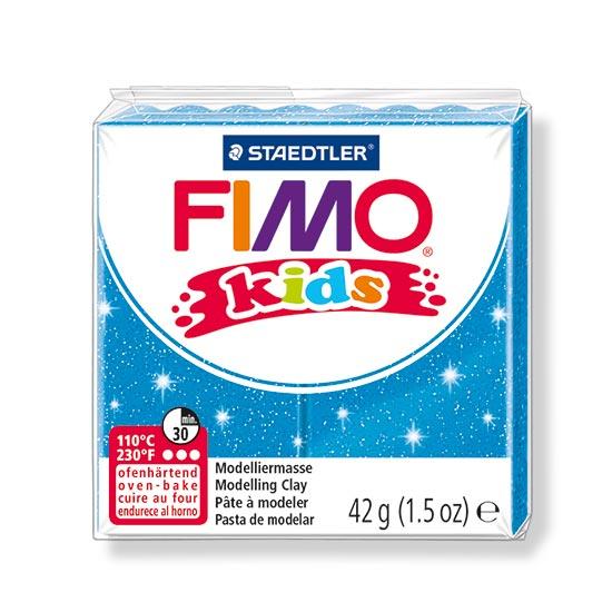 FIMO kids glitter blå ler 8030-312