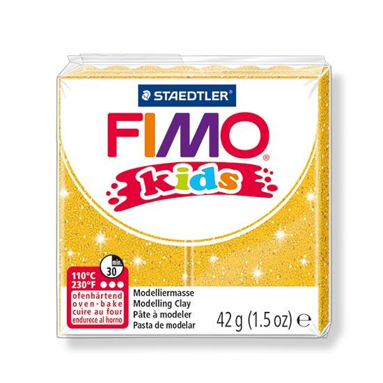 FIMO kids glitter guld ler 8030-112