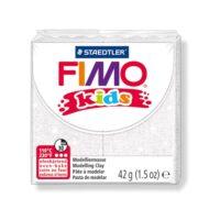 FIMO kids glitter hvid ler 8030-052