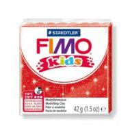 FIMO kids glitter rød ler 8030-212