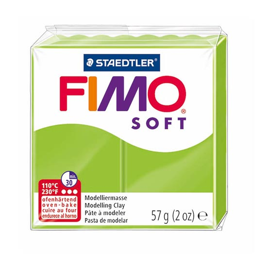FIMO Soft Æblegrøn ler - Apple Green 8020-50