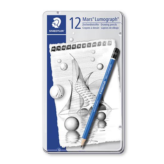 staedtler mars lumograph 12 blyanter 100 g12 s