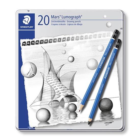 staedtler mars lumograph 20 blyanter 100-g20
