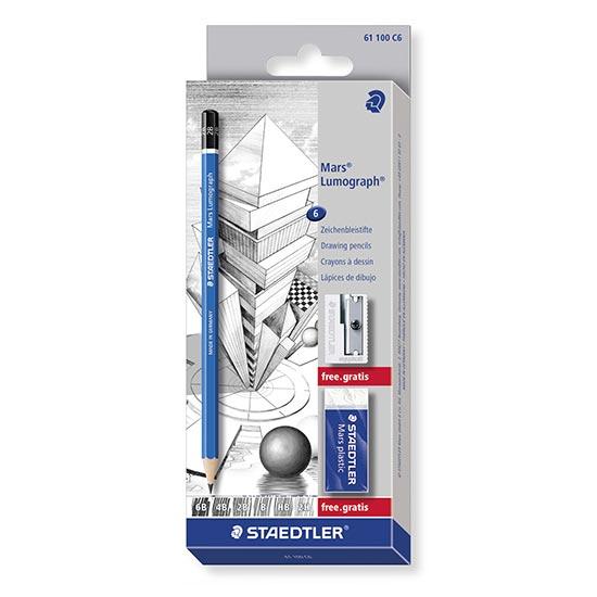 staedtler mars lumograph 6 blyanter 61-100-c6