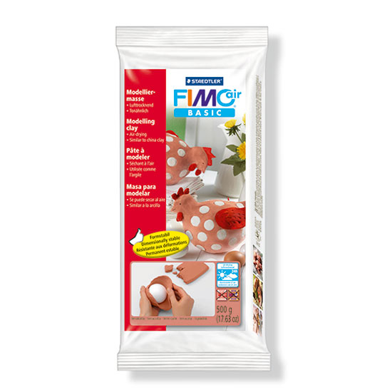 Fimo air basic terracotta modelleringsler 500g