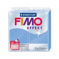 Fimo effect gemstone agat blå ler
