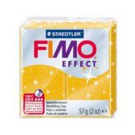 Fimo effect glitter guld ler 8020-112