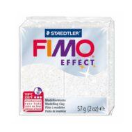 Fimo effect glitter hvid ler 8020-052