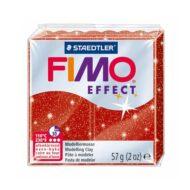 Fimo effect glitter rød ler 8020-202