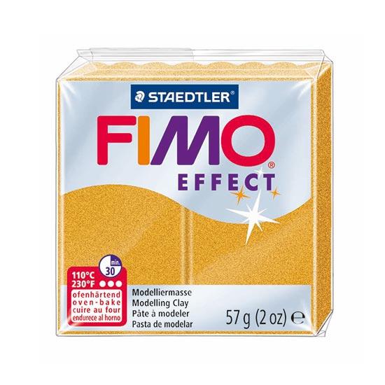 FIMO Effect Metallic Guld Ler