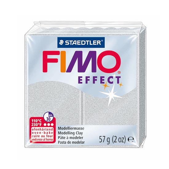 Fimo Effect Metallic Sølv Ler
