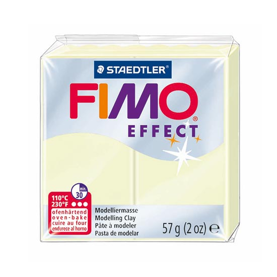Fimo effect nightglow selvlysende ler