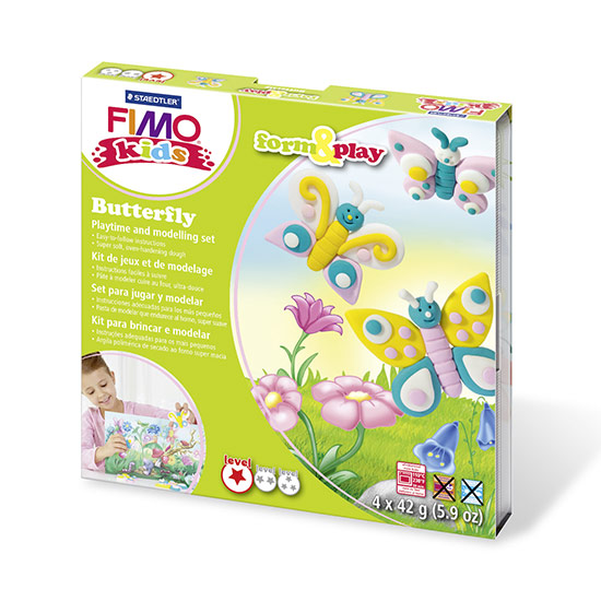 FIMO kids Butterfly Form and Play - Sommerfugl sæt