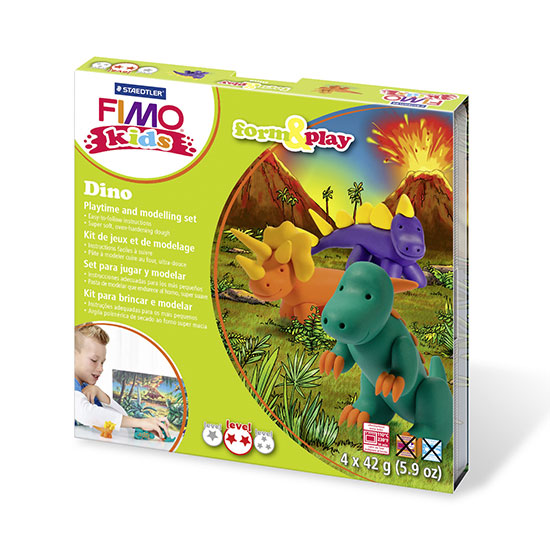 FIMO kids Dino Form and Play sæt