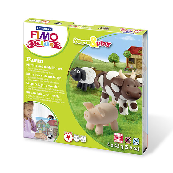 FIMO kids Farm Form and Play - Bondegårdsdyr sæt