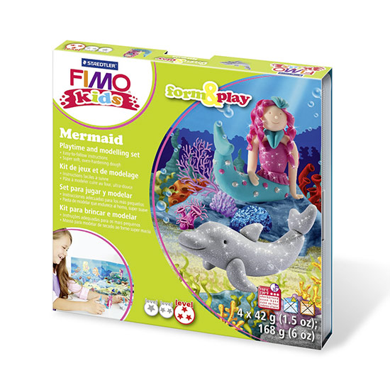 FIMO kids Mermaid Form and Play - Havfrue sæt