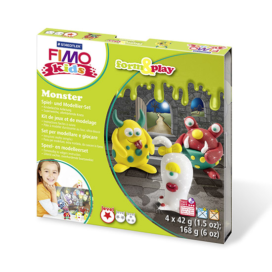 FIMO kids Monster Form and Play Sæt