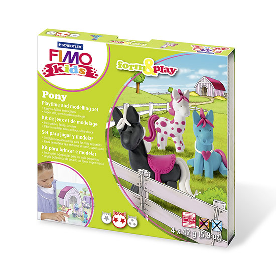 FIMO kids Pony Form and Play sæt