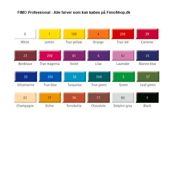 fimo professional all colours
