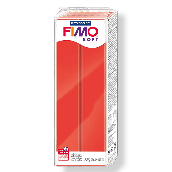 fimo soft indian rød polymer ler 350g