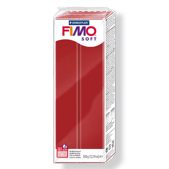 FIMO Soft Jule Rød Polymer Ler 350g