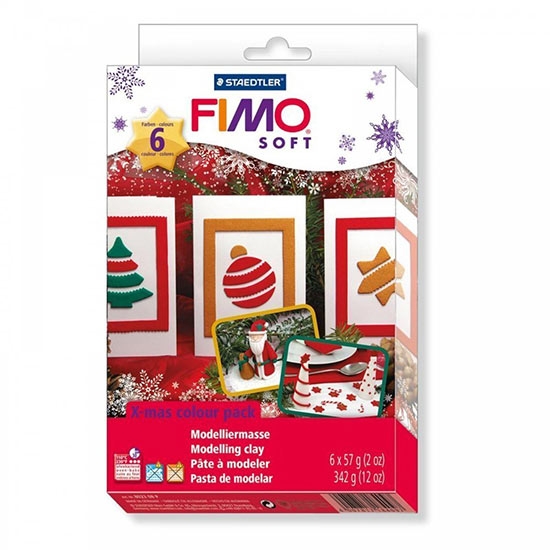 FIMO soft X-mas colour pack - julefarvesæt - 8023-08