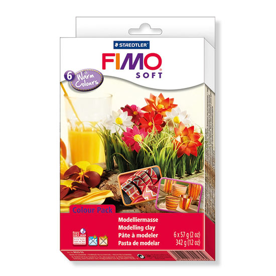 FIMO Soft Warm Colours - Farvesæt 8023 03