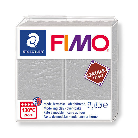 Fimo leather effect dove grey - 8010-809