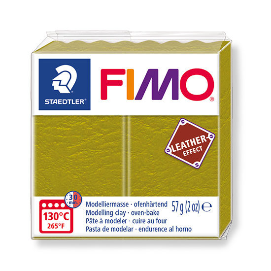Fimo leather effect olive 57g - 8010-519