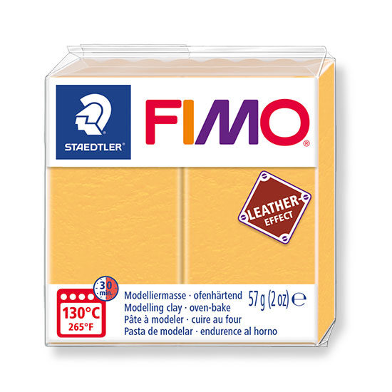 Fimo leather effect safran yellow 57g - 8010-109