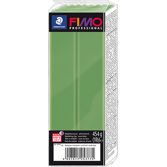 FIMO Professional Bladgrøn 454g - Polymer Ler 8041-57