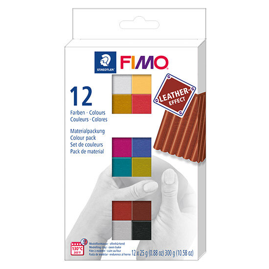 FIMO Leather effect Colour Pack 8013 C12-2 - Farvesæt