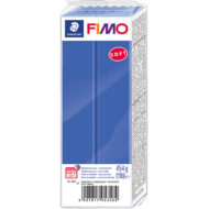 FIMO Soft Brilliant Blå Polymer Ler 454g 8021-33