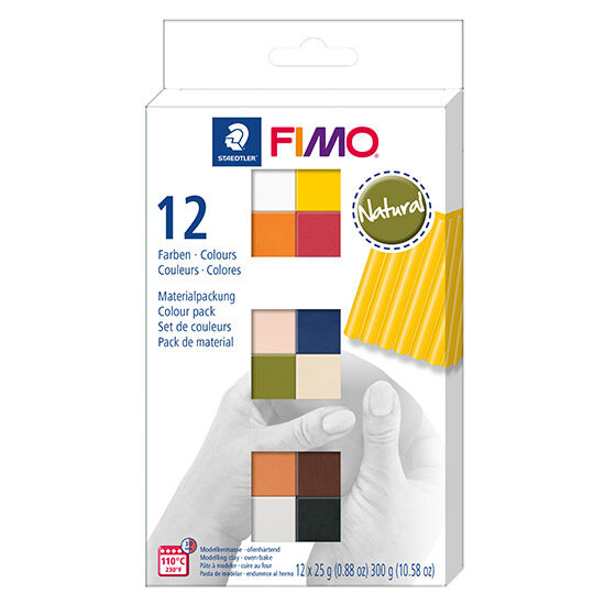 FIMO Soft Colour Pack Natural 8023 C12-4 - Farvesæt