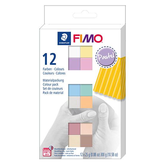 FIMO Soft Colour Pack Pastel 8023 C12-3 - Farvesæt