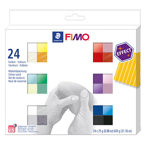 FIMO Effect Colour Pack 8013 C24 Effect - 24 farver