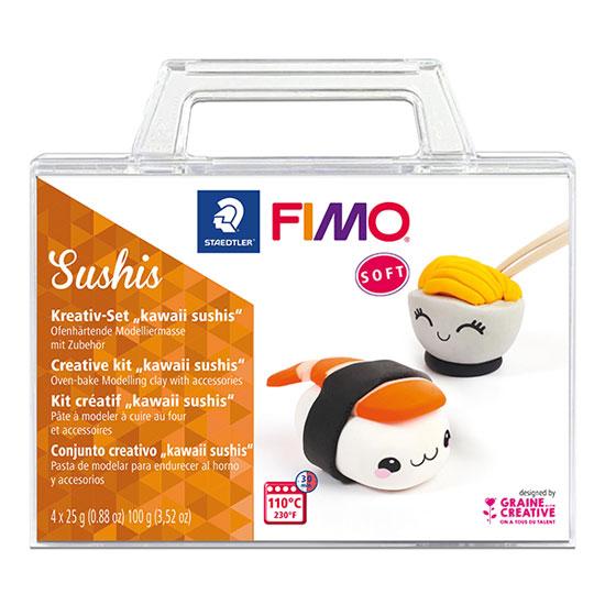 Fimo Soft Sushis - Creative kit Kawaii sushis 8025-33 - Fimo Sæt