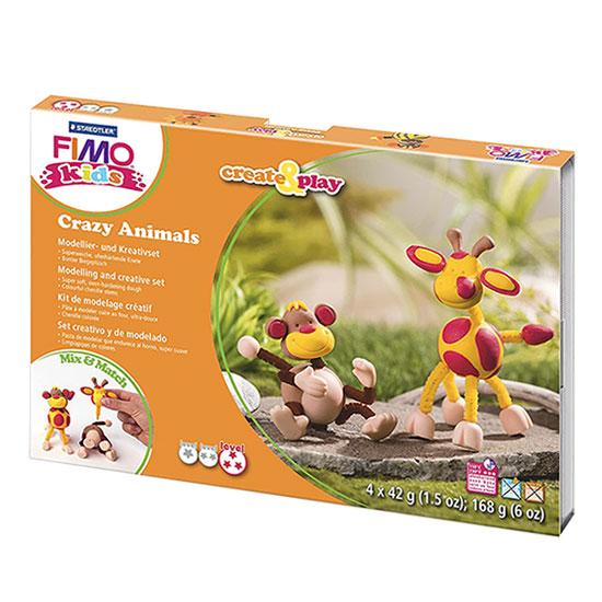 Fimo Kids Crazy Animals 8033-06 - Monkey and Giraffe