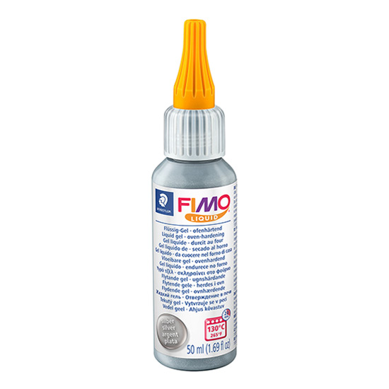 Fimo Liquid Deco Gel Sølv 8050-81