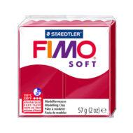 FIMO Soft Jule Rød Ler 57g - 8020-2p