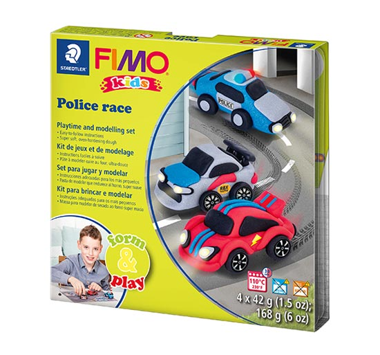 FIMO Kids Police Race Form and Play 8034-29