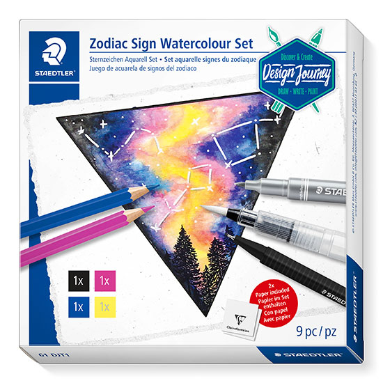 STAEDTLER 61 DJT1 Zodiac Sign Watercolour Set