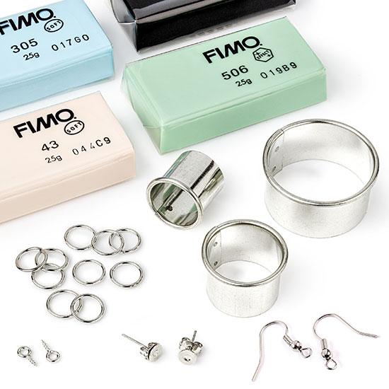fimo earring kit closeup