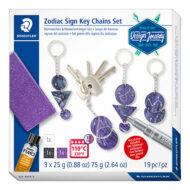 Staedtler 61 DJT2 Zodiac Sign Key Chains Set