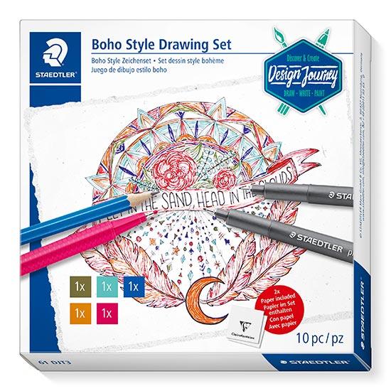 Staedtler 61 DJT3 Boho Style Drawing Set