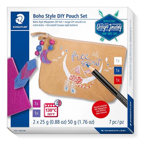 Staedtler 61 DJT4 Boho Style DIY Pouch Set